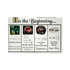 In the Beginning copy Rectangle Magnet