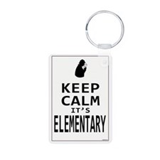 Keep Calm it's Elementary Keychains