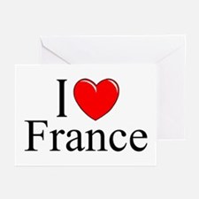 """I Love France"" Greeting Cards (Pk of 10)"