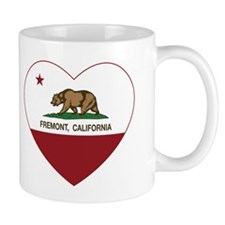 california flag fremont heart Mugs