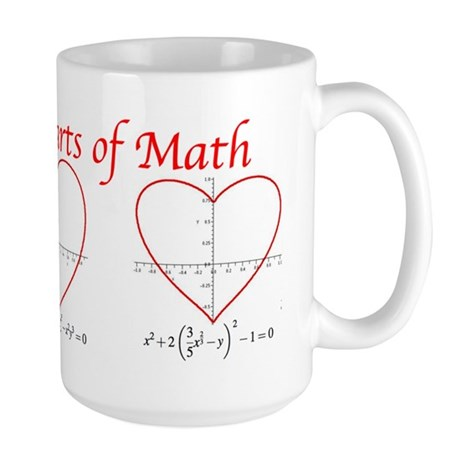 Heart Curves Large Mug