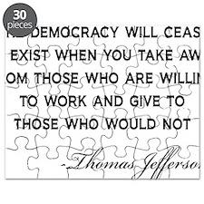 Jefferson-Democracy-(white-shirt) Puzzle