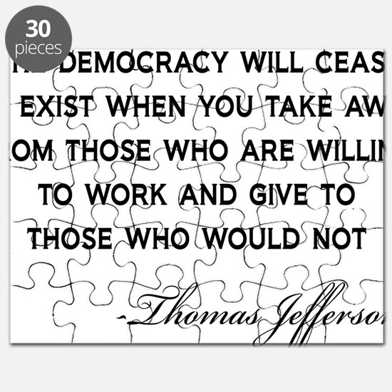 Jefferson-Democracy-(white-shirt) Puzzle
