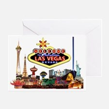 Vegas Nite Lites Greeting Card