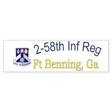 2nd Bn 58th Inf cap Bumper Sticker