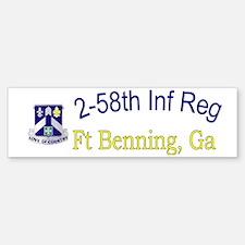 2nd Bn 58th Inf cap Sticker (Bumper)