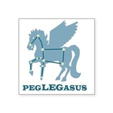"peglegasus Square Sticker 3"" x 3"""