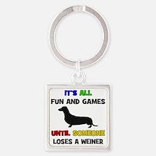 Fun & Games - Weiner Square Keychain