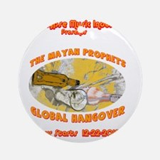 MayanProphetHangover Round Ornament