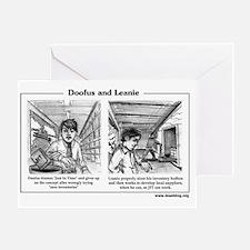 Doofus  Leanie - JIT Greeting Card