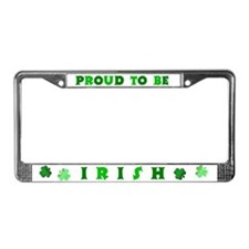 Proud to be Irish License Plate Frame