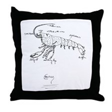 crayfishPNG Throw Pillow