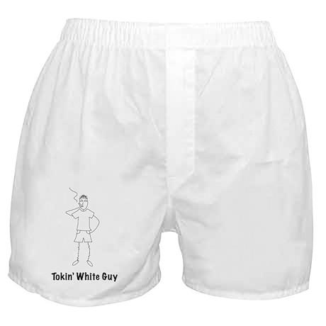 white_guy_black Boxer Shorts