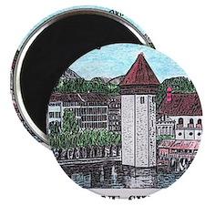 lucerne small print Magnet