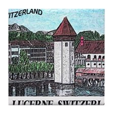 lucerne small print Tile Coaster