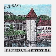 lucerne small print Tile Coaster
