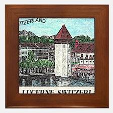 lucerne small print Framed Tile