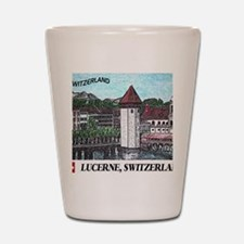 lucerne small print Shot Glass