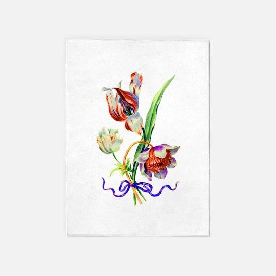 Jean Louis Prevost Tulips 5'x7'Area Rug
