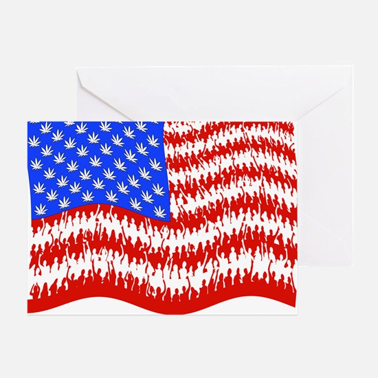 can_flag_large_black Greeting Card