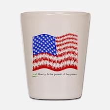 can_flag_large_black Shot Glass