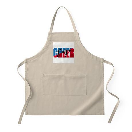 Cheer Logo Blue & Red BBQ Apron