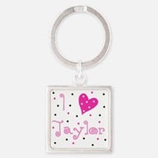i_luv_taylor Square Keychain