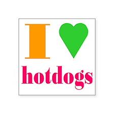 """hotdogs Square Sticker 3"""" x 3"""""""