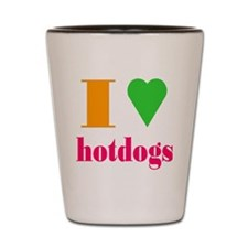 hotdogs Shot Glass