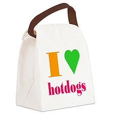 hotdogs Canvas Lunch Bag