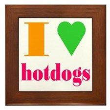 hotdogs Framed Tile