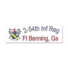 2nd Bn 54th Inf cap Car Magnet 10 x 3