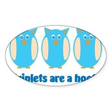 Triplets are a hoot blue Decal