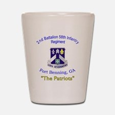 2-2nd Bn 58th Inf Shot Glass