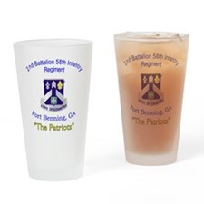 2-2nd Bn 58th Inf Drinking Glass