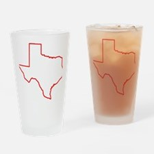 Texas_Outline Drinking Glass