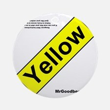 yellowfront Round Ornament