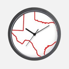 Texas_Outline Wall Clock
