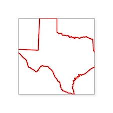 """Texas_Outline Square Sticker 3"""" x 3"""""""