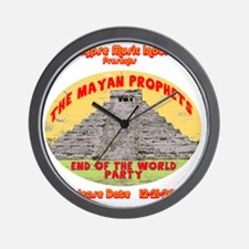 Rev-MayanProphetEnd Wall Clock