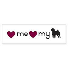Love My Chow Bumper Bumper Sticker