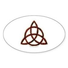 Triquetra Oval Decal