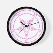 baphomet-pink Wall Clock