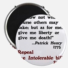 Patrick Henry Intolerable Bill Magnet