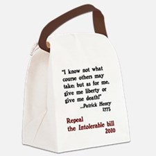 Patrick Henry Intolerable Bill Canvas Lunch Bag