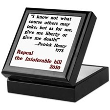 Patrick Henry Intolerable Bill Keepsake Box
