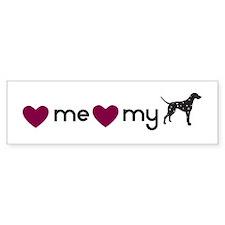 Love My Dalmatian Bumper Bumper Sticker