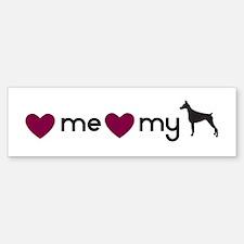 Love My Doberman Bumper Bumper Bumper Sticker