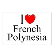 """I Love French Polynesia"" Postcards (Package of 8)"