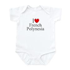 """""""I Love French Polynesia"""" Infant Bodysuit"""